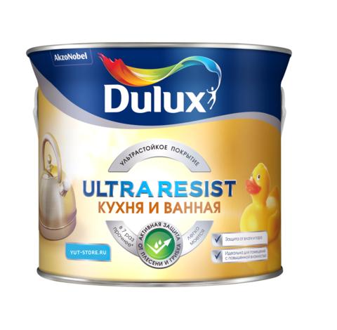 Краска Dulux Ultra Resist Кухни и Ванные Матовая