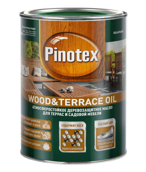 Масло Pinotex Wood&terrace Oil